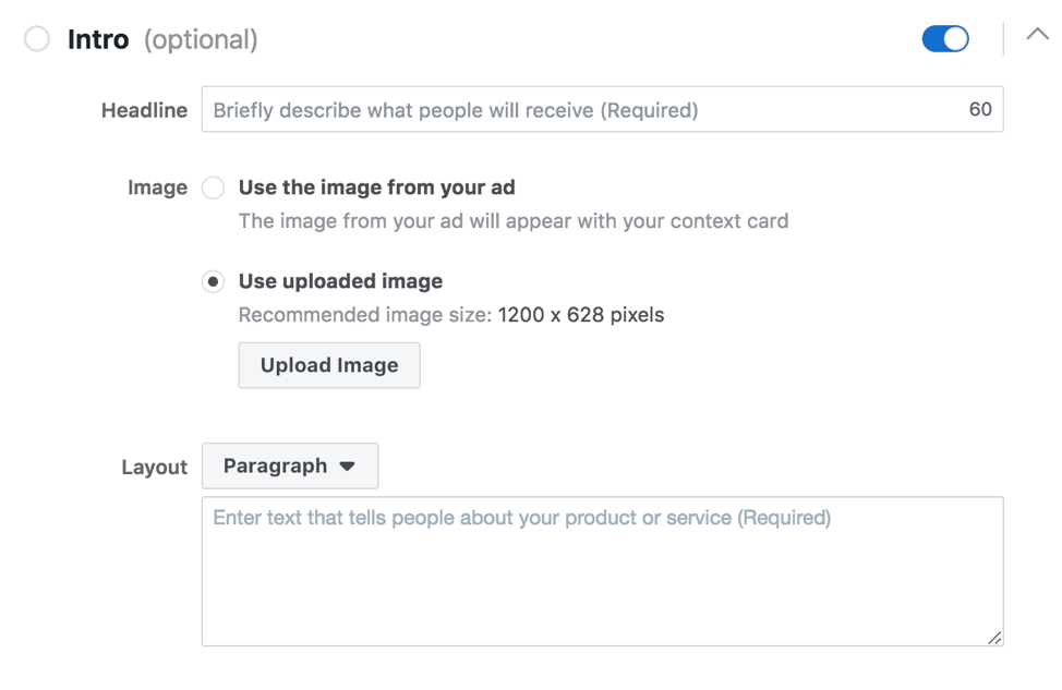 Facebook Context Card Example